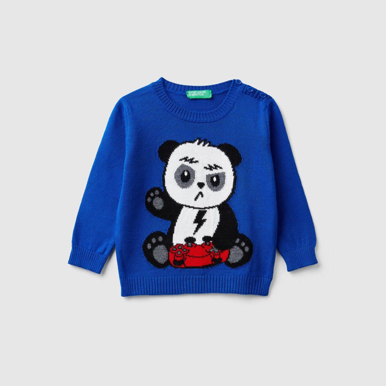 Jersey de tricot con grabado