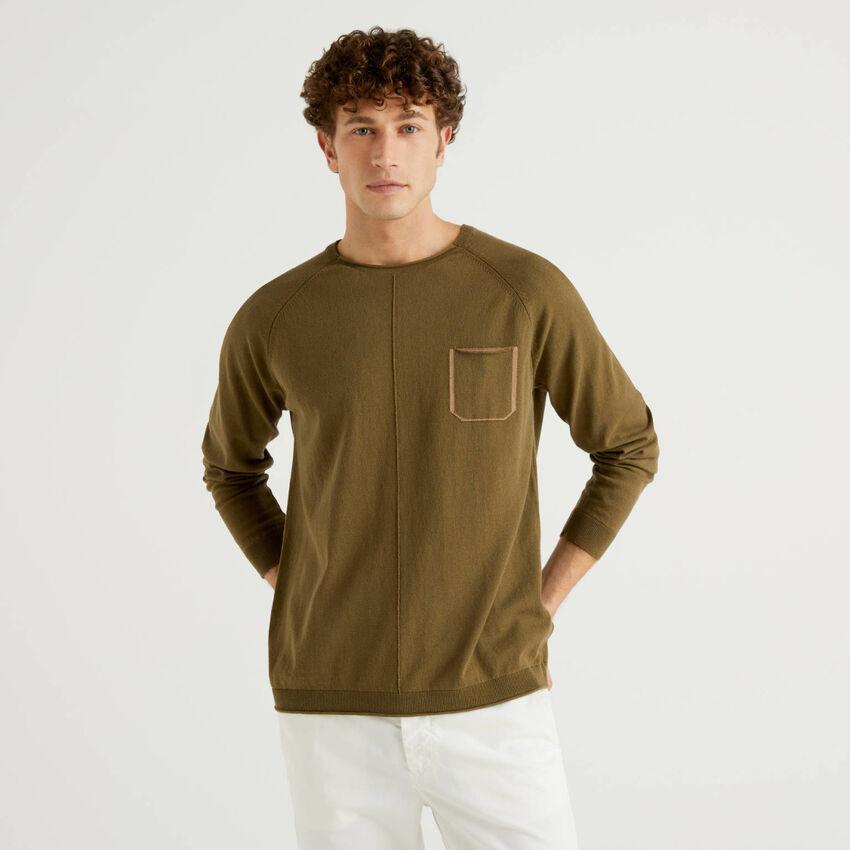 Jersey de algodón con bolsillo