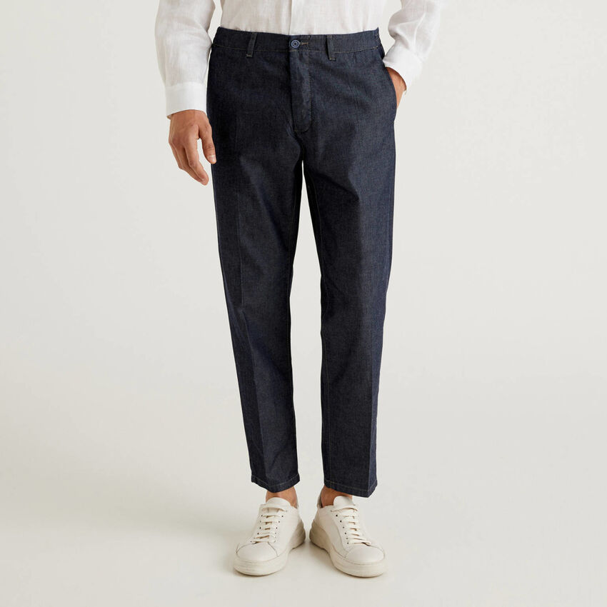 Pantalón de cambray de algodón