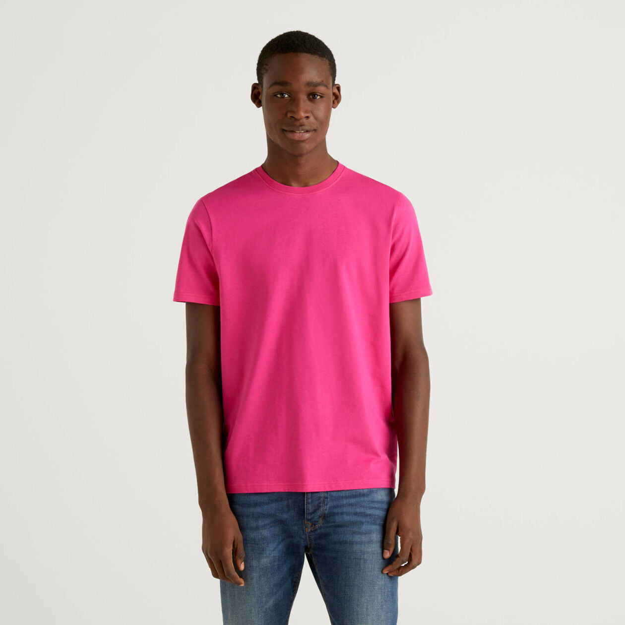 Camiseta fucsia de algodón puro