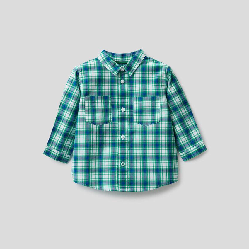 Camisa de cuadros de 100 % algodón