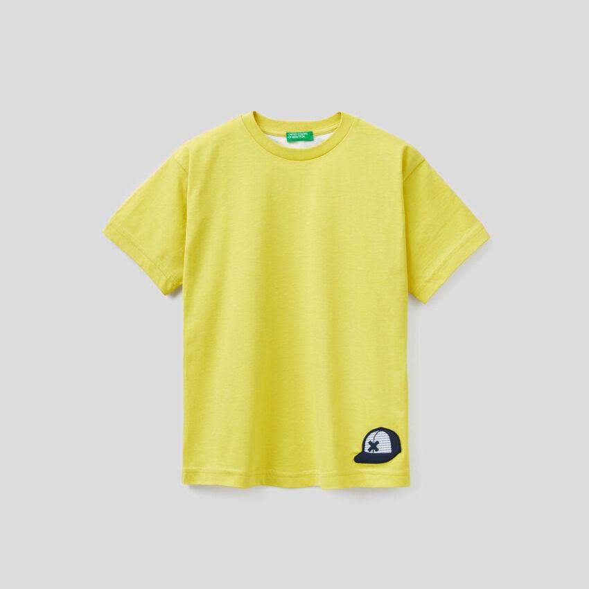 Camiseta de 100 % algodón con eslogan