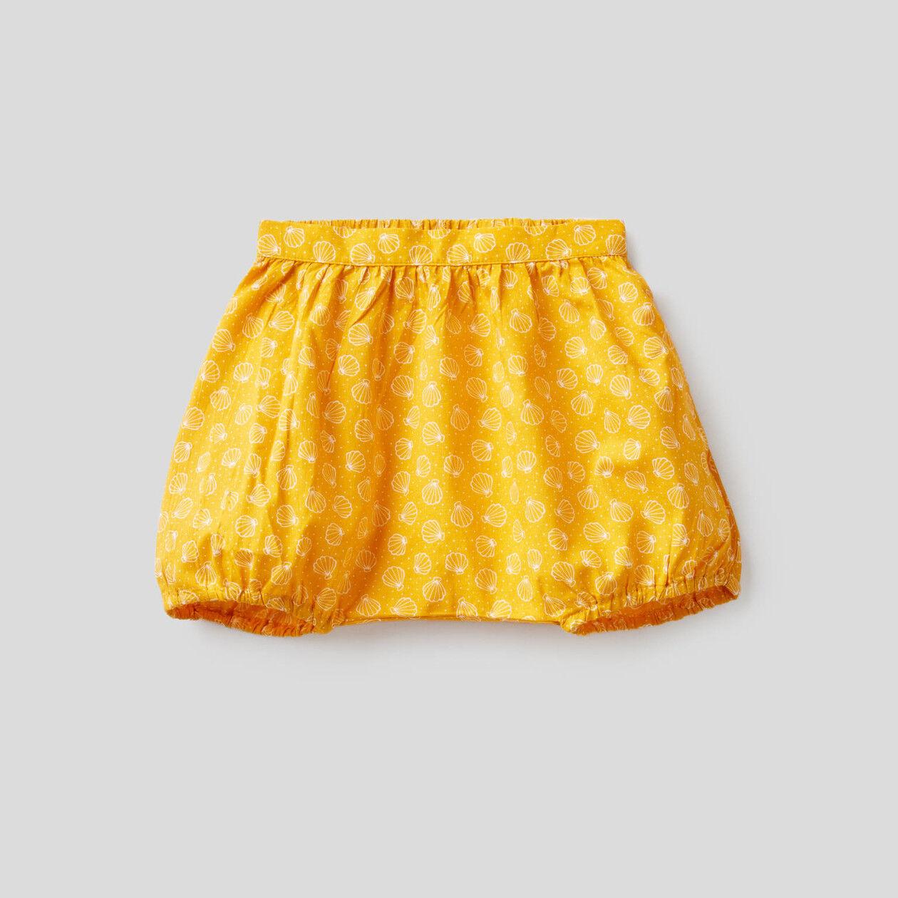 Pantalón corto estampado de 100% algodón