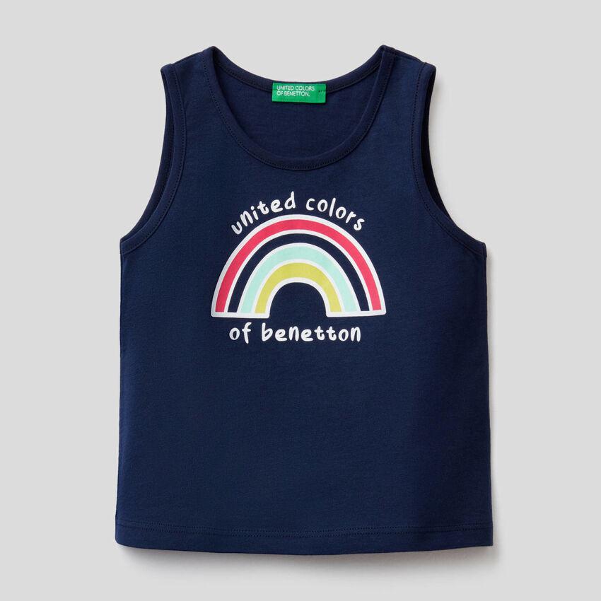 Camiseta de tirantes de algodón orgánico con estampado