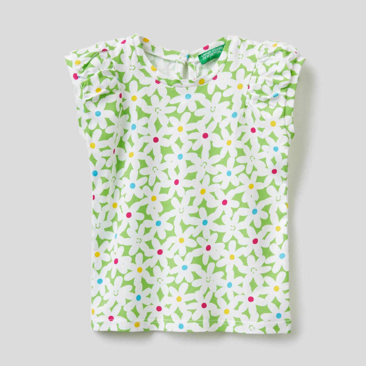 Camiseta estampada de 100% algodón