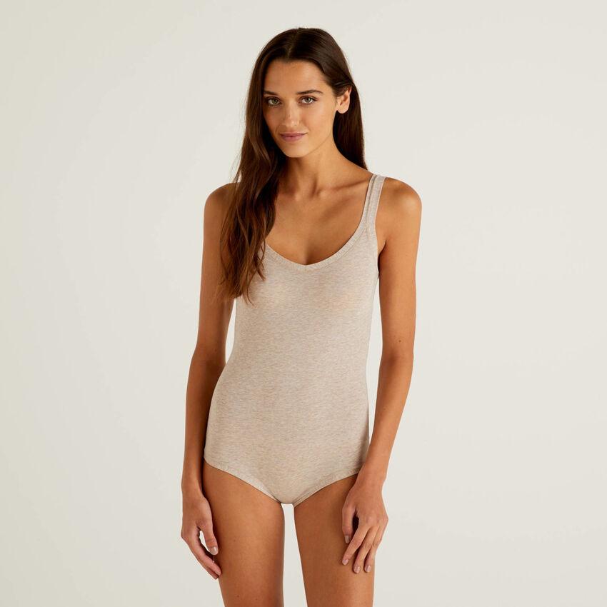 Body de algodón orgánico super stretch