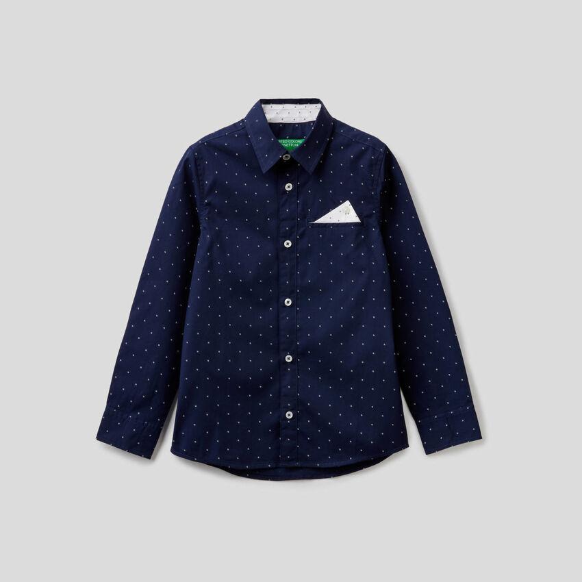Camisa 100% algodón con micro fantasía