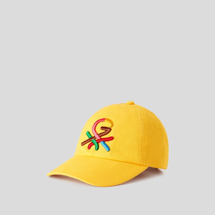 Gorra amarilla con logotipo bordado by Ghali