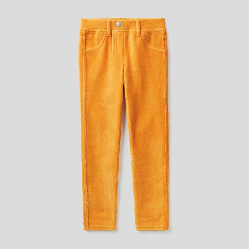 Pantalón super skinny de chenilla