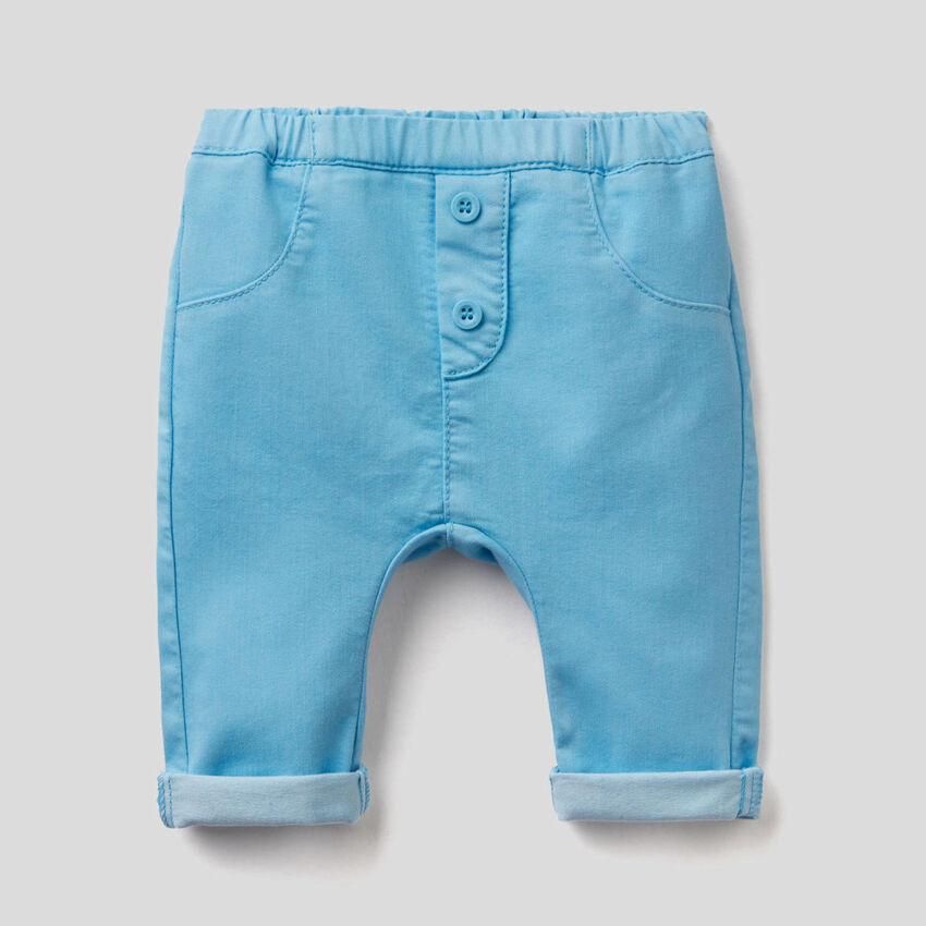 Pantalón de algodón elástico mixto