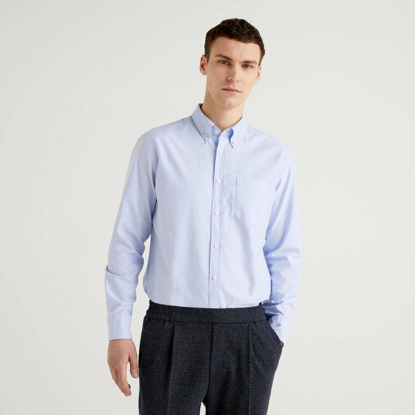 Camisa regular fit de 100 % algodón