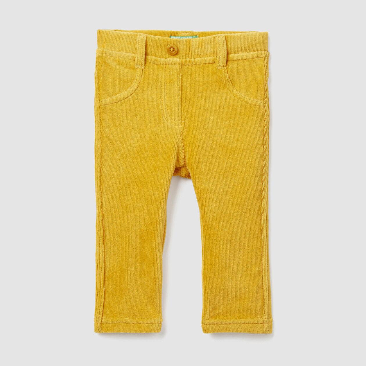 Pantalón de canalé elástico