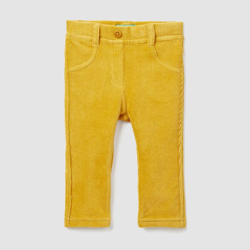 Pantalón de chenilla acanalada