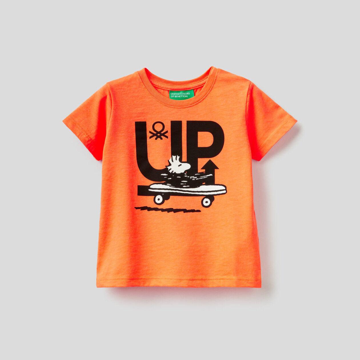 Camiseta con estampado de los Peanuts