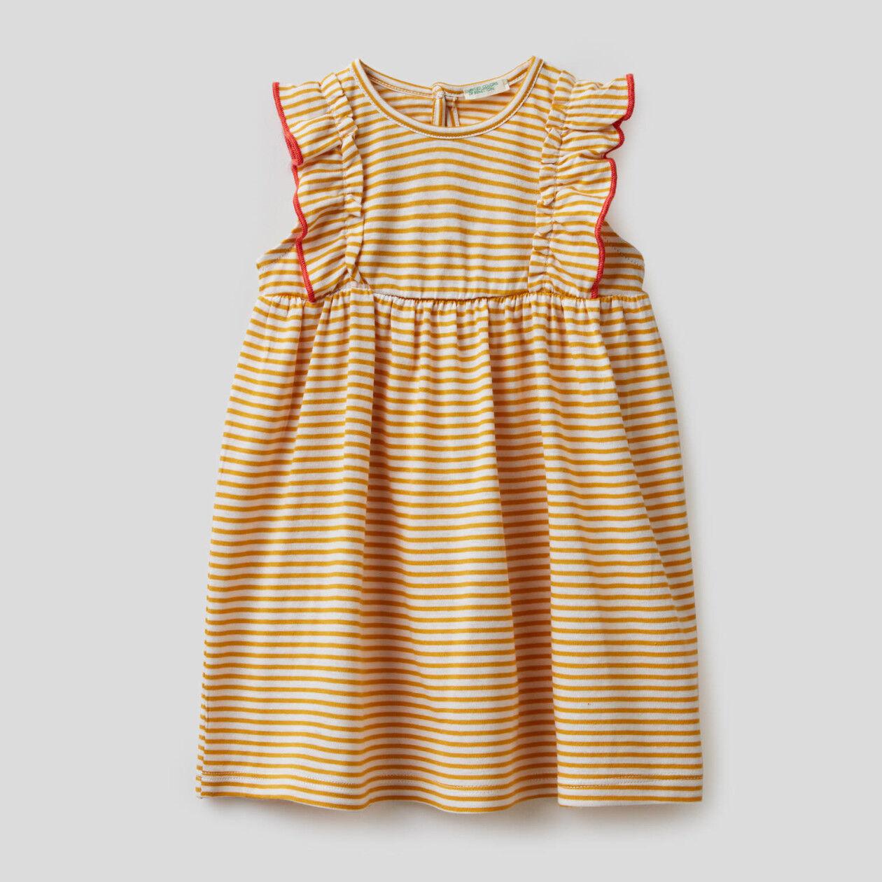 Vestido de rayas de 100% algodón orgánico