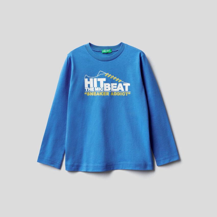 Camiseta de manga larga con estampado