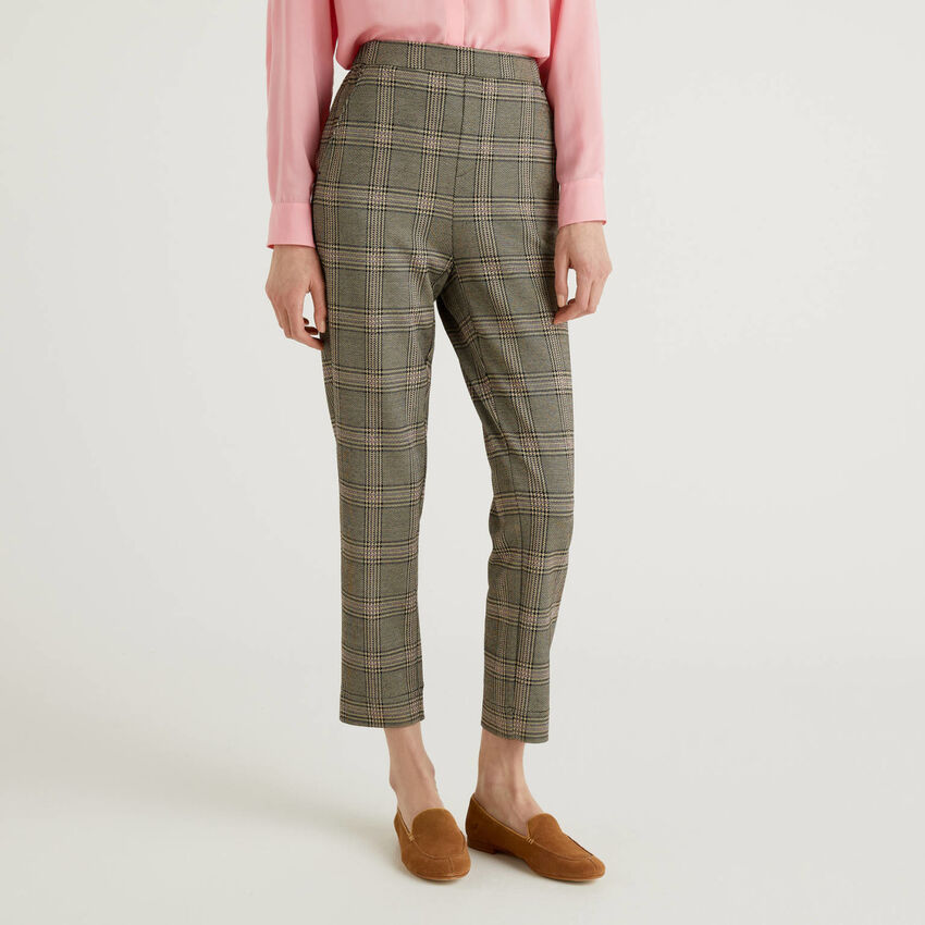 Pantalón con estampado Príncipe de Gales