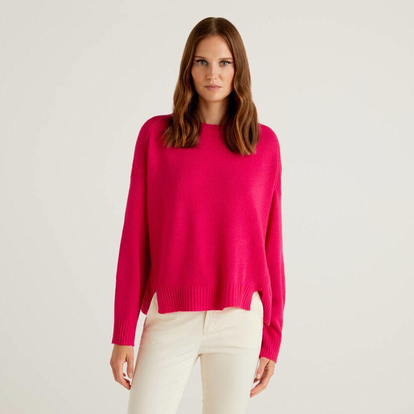 Jersey en mezcla de lana con aperturas