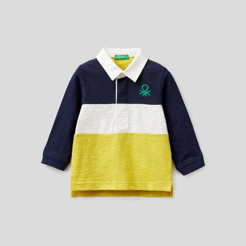 Polo de rugby de 100 % algodón