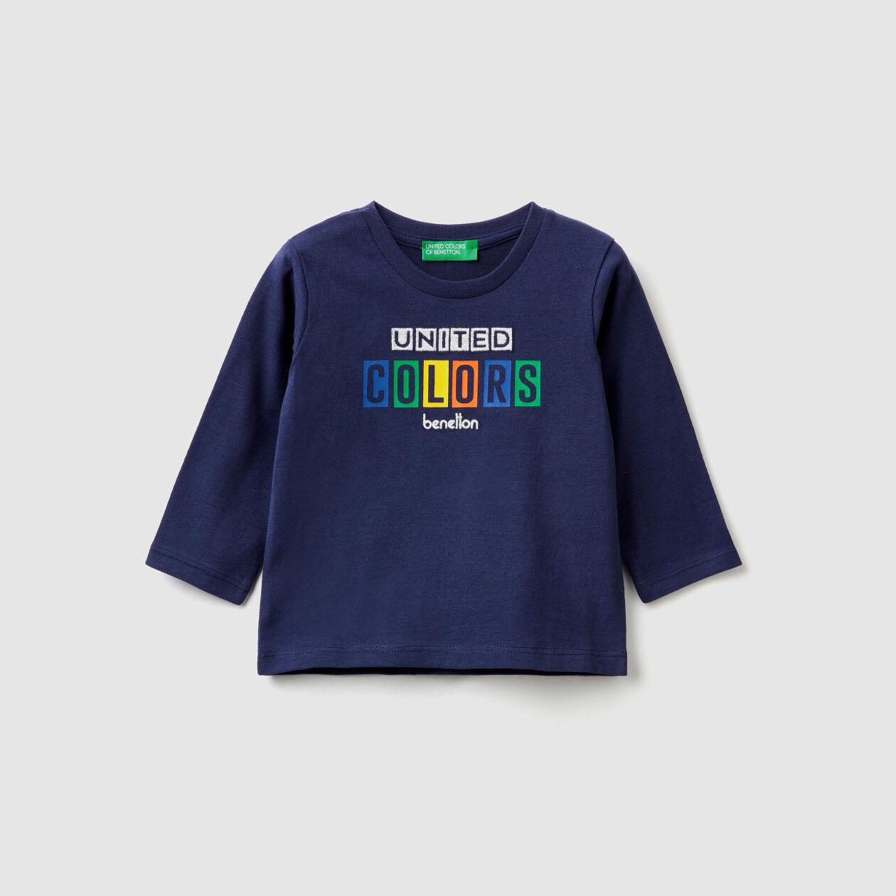 Camiseta de algodón cálido con logotipo