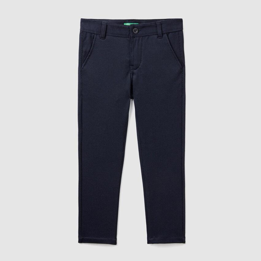 Pantalones jacquard slim fit