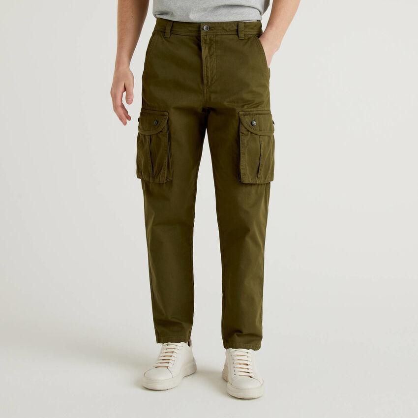 Pantalón cargo de 100 % algodón