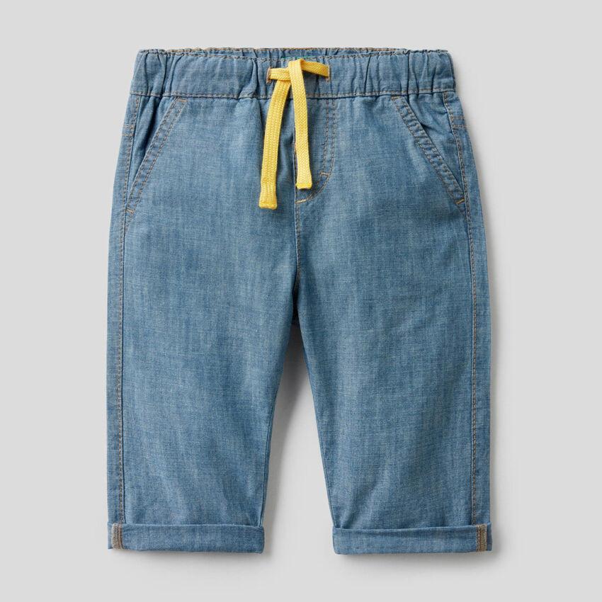 Pantalón de cambray de 100% algodón