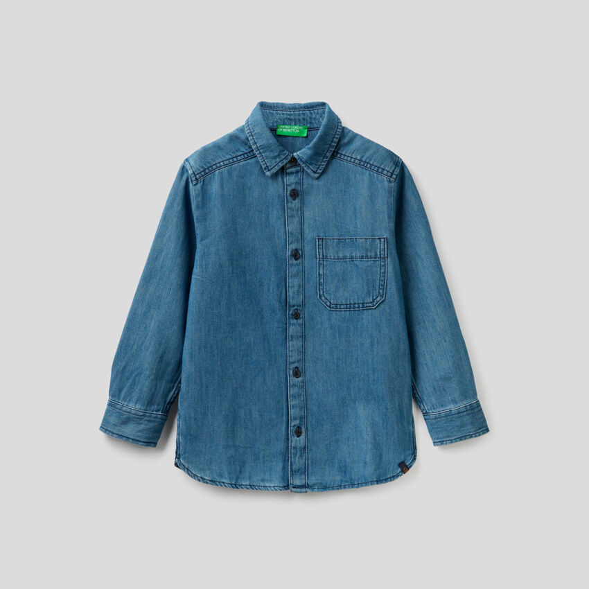 Camisa vaquera 100% algodón