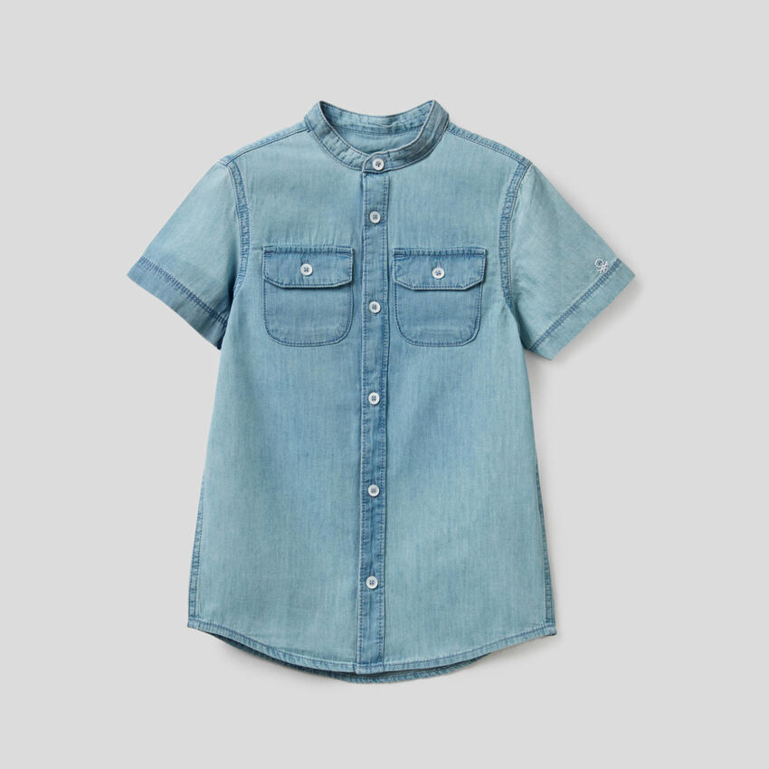 Camisa de denim de 100% algodón
