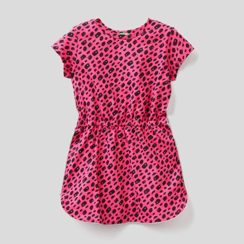 Vestido estampado de 100 % algodón