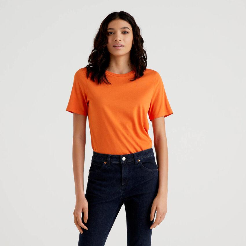 Camiseta de cuello redondo lisa