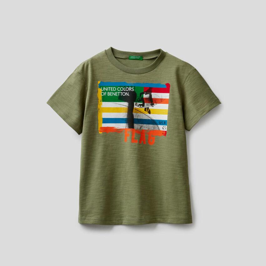Camiseta de algodón con estampado de surf