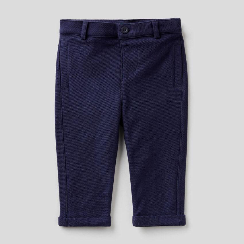 Pantalón elegante de felpa de 100 % algodón