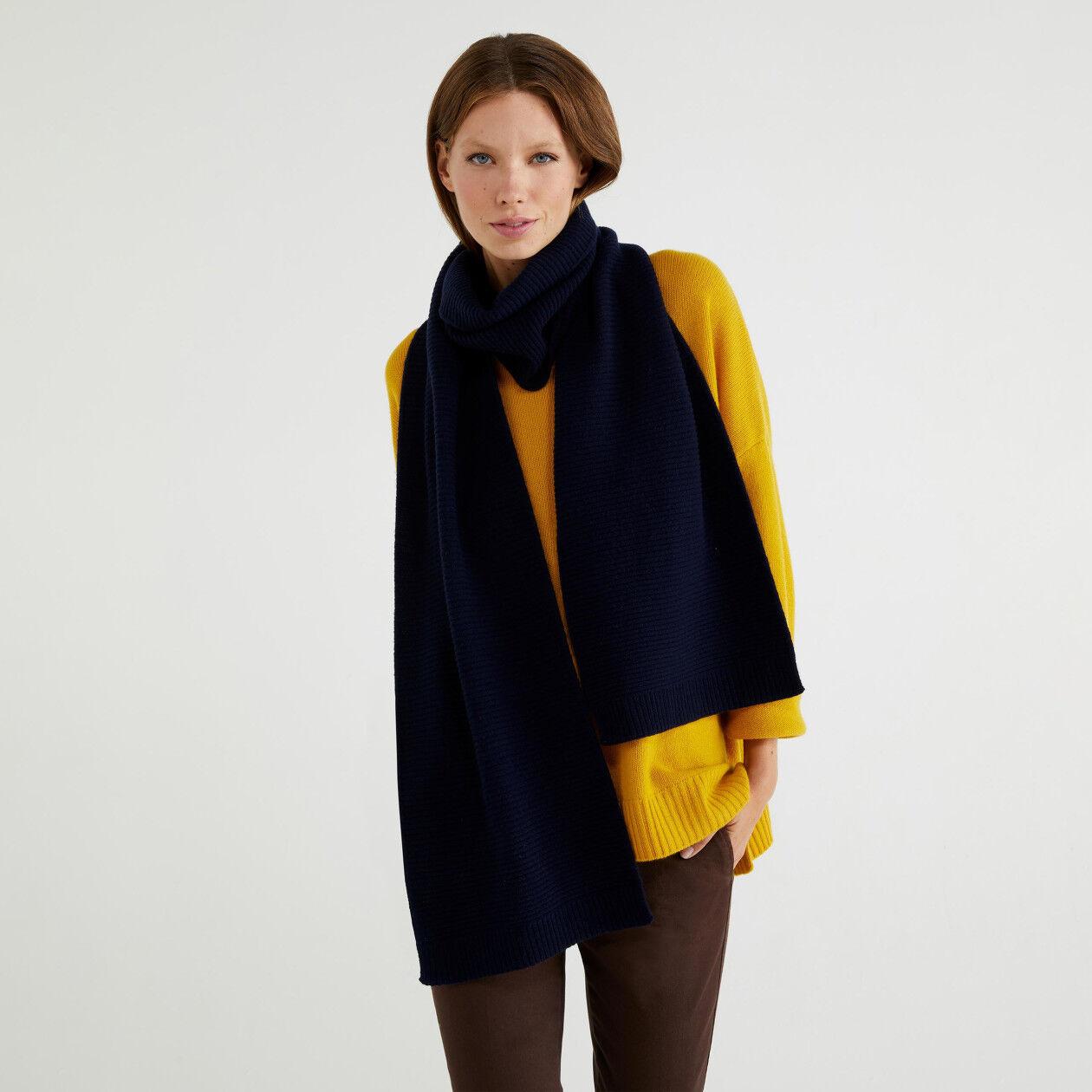 Bufanda de lana mixta
