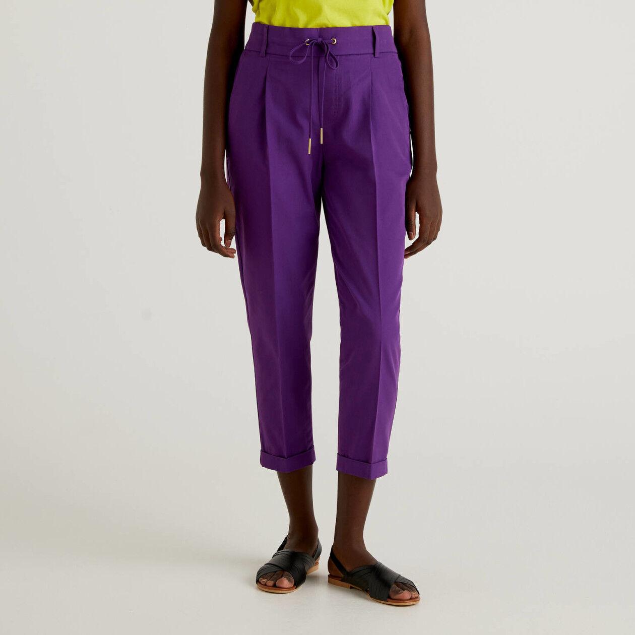 Pantalón de algodón con cordón de ajuste