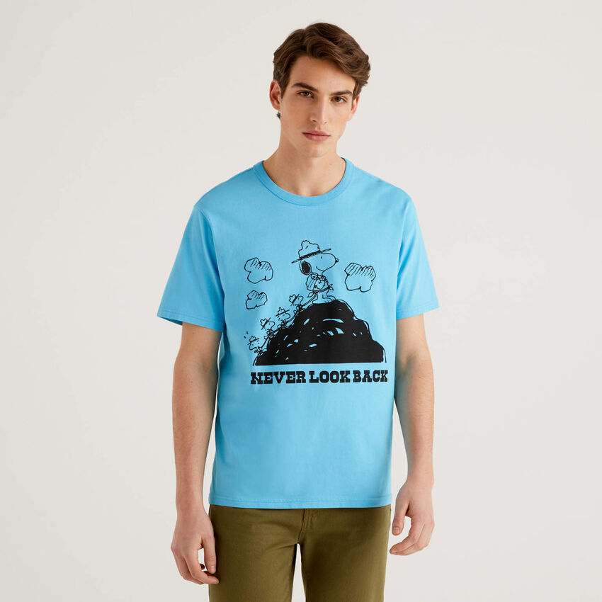 Camiseta de los Peanuts azul