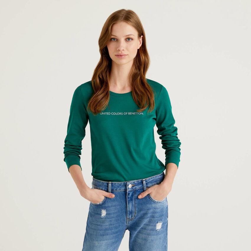 Camiseta de manga larga de 100% algodón