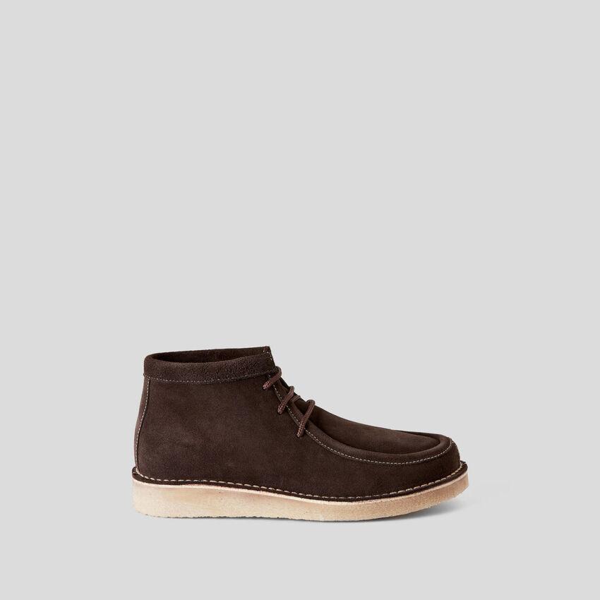 Zapatos de cordones en piel de ante