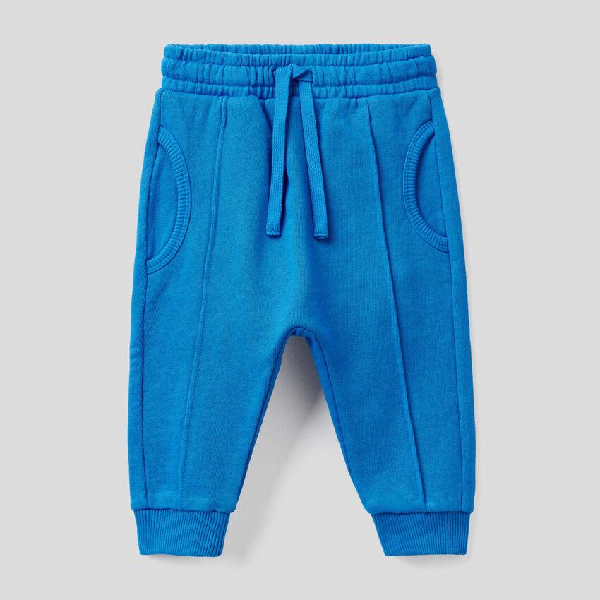 Pantalón deportivo de felpa de 100 % algodón
