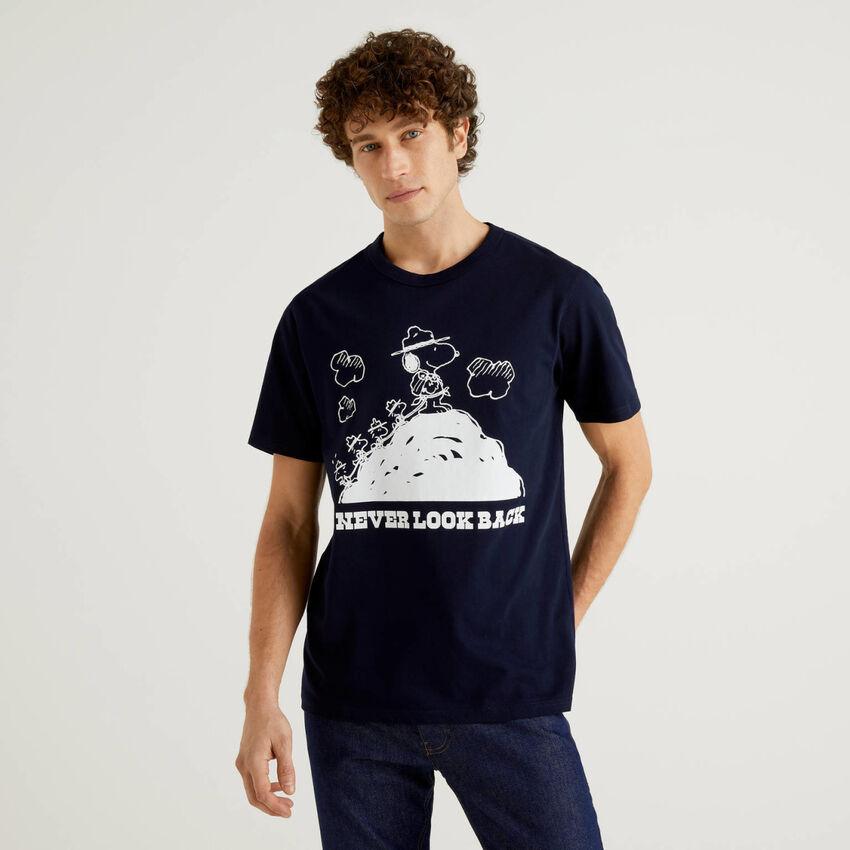 Camiseta de los Peanuts azul oscuro
