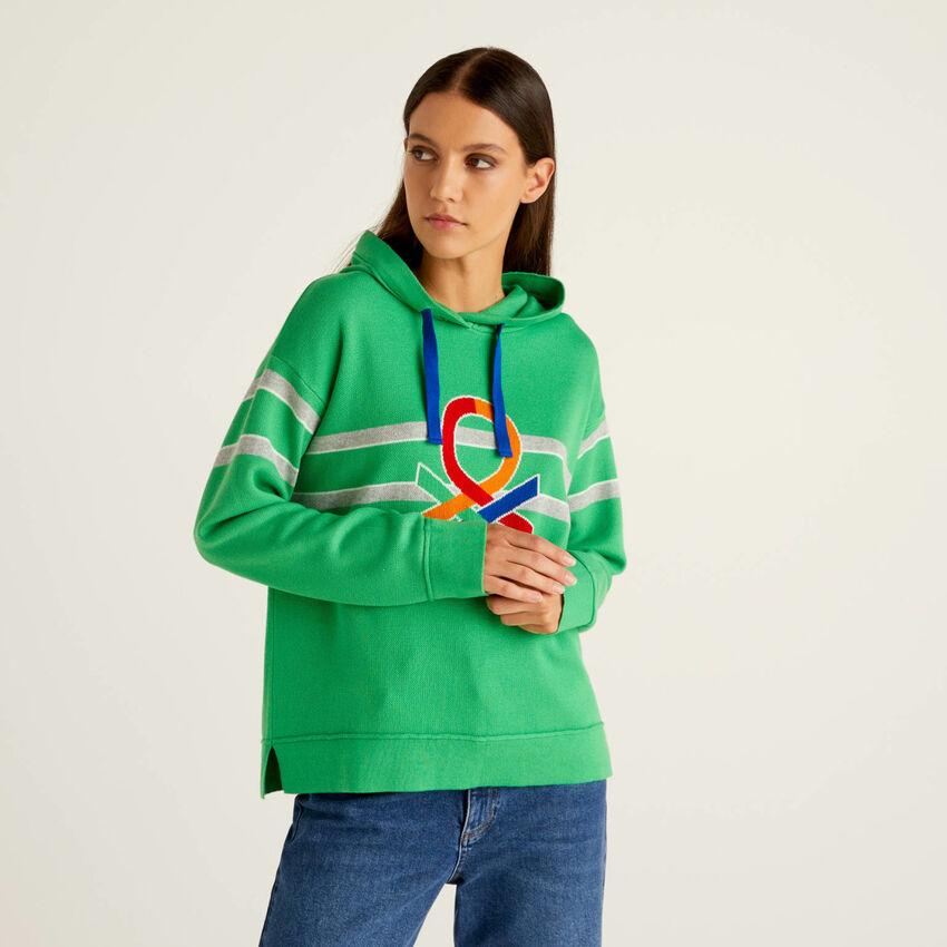 Jersey algodón tricot con capucha