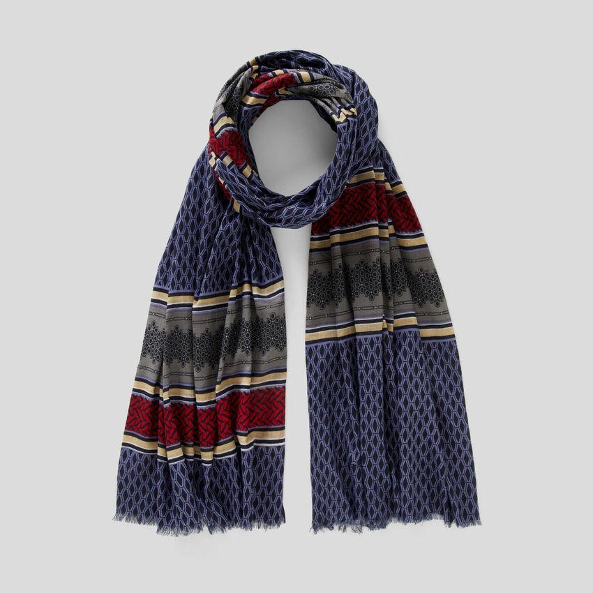 Bufanda estampada de 100 % algodón