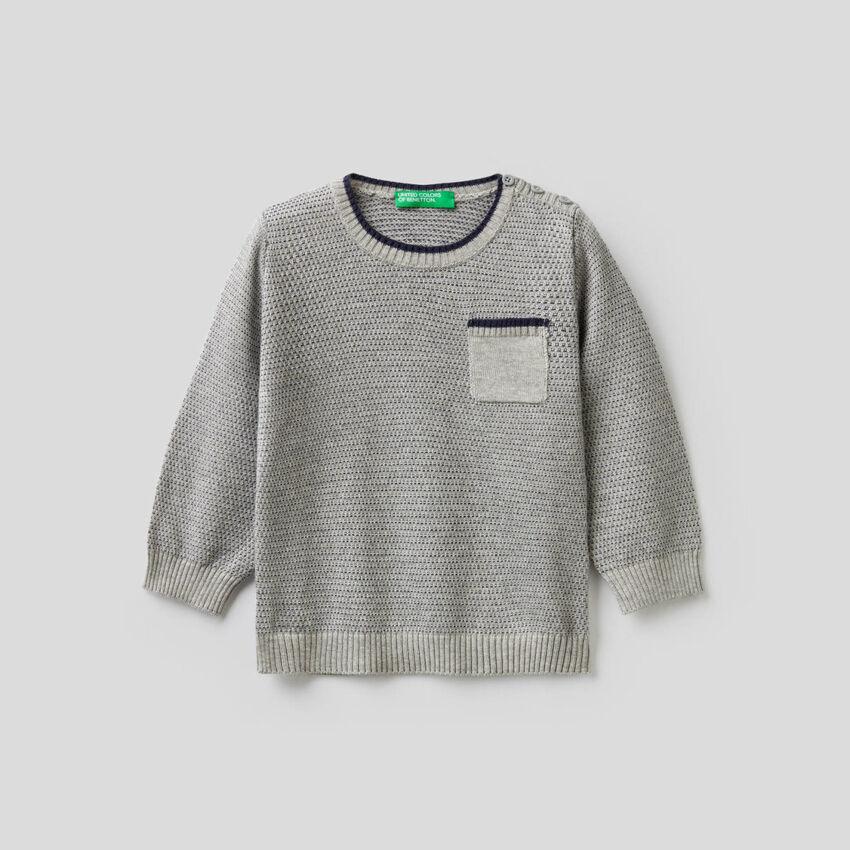 Jersey labrado de lana mixta