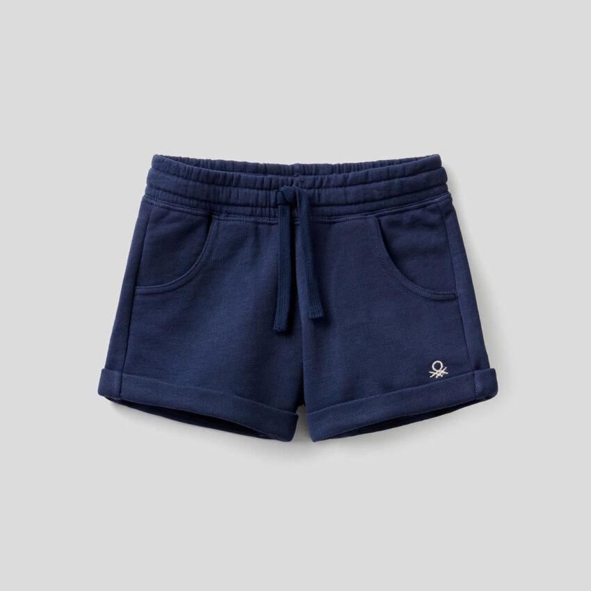 Pantalón corto de felpa de algodón puro