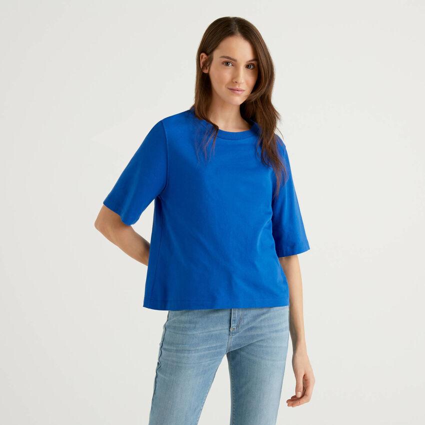 Camiseta boxy fit de 100 % algodón