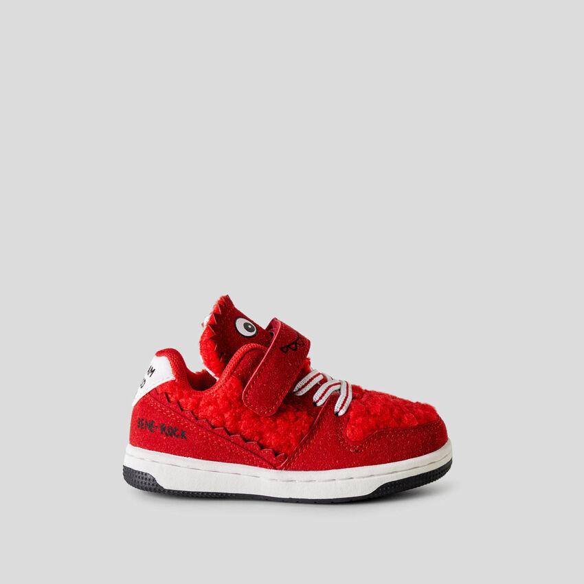 Sneakers con inserción de peluche polar