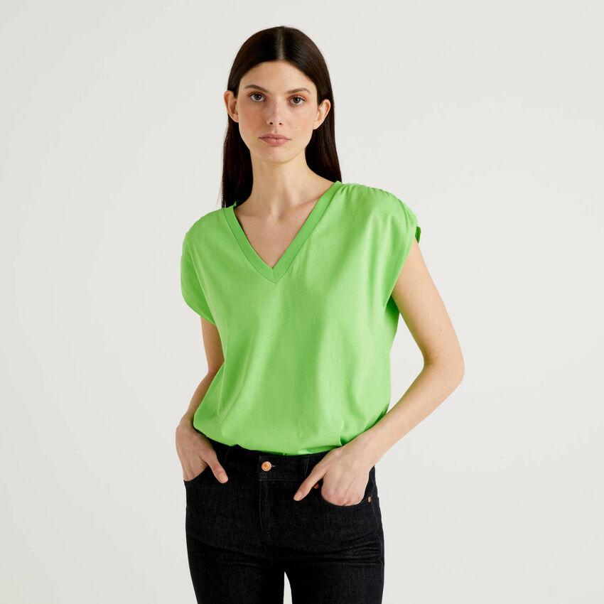 Camiseta de manga corta de 100% algodón