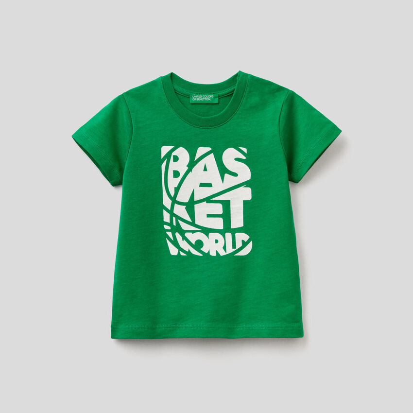 Camiseta estampada de algodón orgánico
