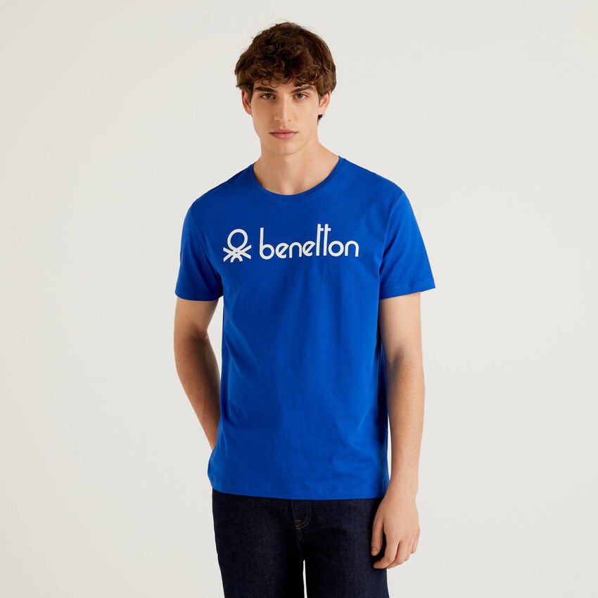 Camiseta de manga corta con estampado de logotipo