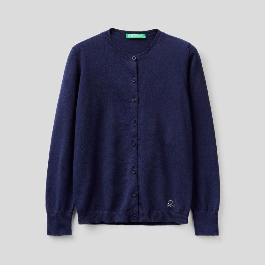 Cárdigan de tricot de 100 % algodón
